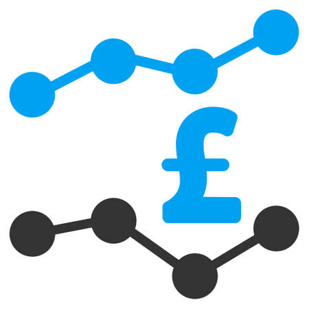 trends: Pound Trends vector icon. Pound Trends icon symbol. Pound Trends icon image. Pound Trends icon picture. Pound Trends pictogram. Flat pound trends icon. Isolated pound trends icon graphic. Illustration