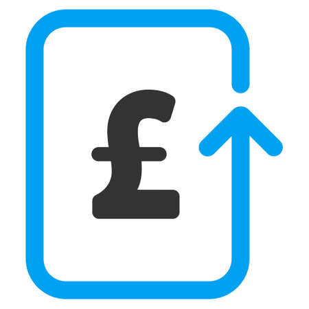 reverse: Reverse Pound Transaction vector icon. Reverse Pound Transaction icon symbol. Reverse Pound Transaction icon image. Reverse Pound Transaction icon picture. Reverse Pound Transaction pictogram.