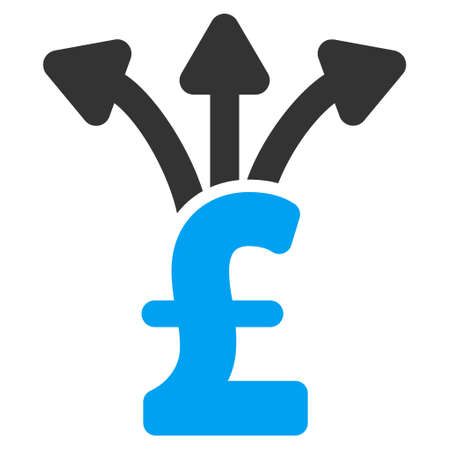 Teile Pound Vektor-Symbol. Teile Pound Symbol Symbol. Teile Pound Symbolbild. Teile Pound Symbol Bild. Teile Pound Piktogramm. WG Pfund-Symbol. Isolierte Aktie Pfund Symbol Grafik.
