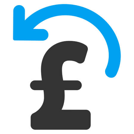 undo: Undo Pound Payment vector icon. Undo Pound Payment icon symbol. Undo Pound Payment icon image. Undo Pound Payment icon picture. Undo Pound Payment pictogram. Flat undo pound payment icon.