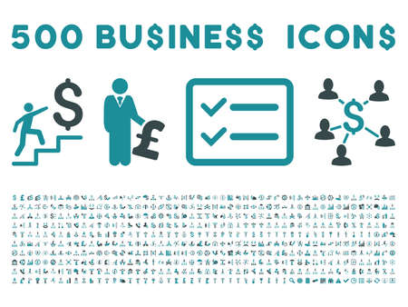laundering: 500 American and British business vector icons. Style is bicolor soft blue flat icons on a white background.