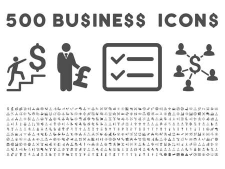 drug user: 500 American and British business vector icons. Style is gray flat icons on a white background.