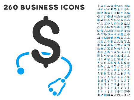 Médicale icône d'affaires au sein de 260 vecteur pictogramme d'affaires ensemble. Le style est des symboles plats bicolor, couleurs bleu et gris clair, fond blanc. Vecteurs