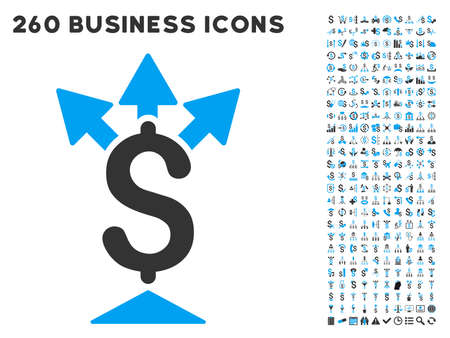 payer: Split Payment icon within 260 vector business pictogram set. Style is bicolor flat symbols, light blue and gray colors, white background. Illustration