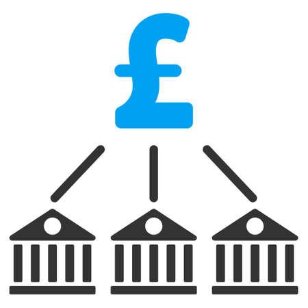 expenses: Bank Pound Expenses vector icon. Bank Pound Expenses icon symbol. Bank Pound Expenses icon image. Bank Pound Expenses icon picture. Bank Pound Expenses pictogram. Flat bank pound expenses icon.
