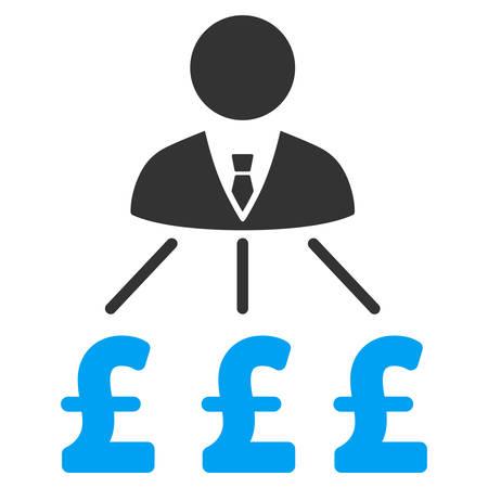 expenses: Businessman Pound Expenses vector icon. Businessman Pound Expenses icon symbol. Businessman Pound Expenses icon image. Businessman Pound Expenses icon picture. Businessman Pound Expenses pictogram.