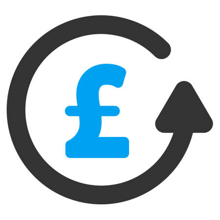 moneyback: Chargeback Pound vector icon. Chargeback Pound icon symbol. Chargeback Pound icon image. Chargeback Pound icon picture. Chargeback Pound pictogram. Flat chargeback pound icon.