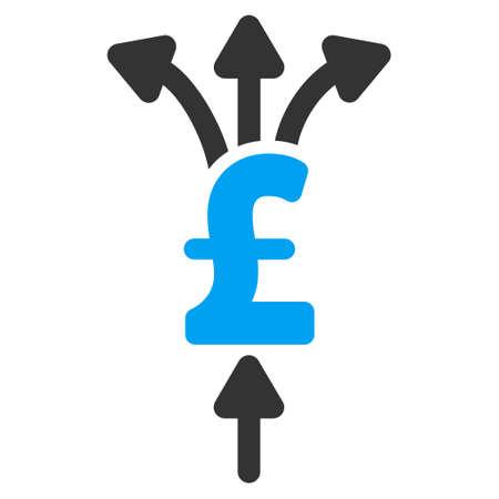 Divide Pound Payments vector icon. Divide Pound Payments icon symbol. Divide Pound Payments icon image. Divide Pound Payments icon picture. Divide Pound Payments pictogram. Vetores