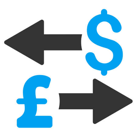 transactions: Dollar Pound Transactions vector icon. Dollar Pound Transactions icon symbol. Dollar Pound Transactions icon image. Dollar Pound Transactions icon picture. Dollar Pound Transactions pictogram. Illustration