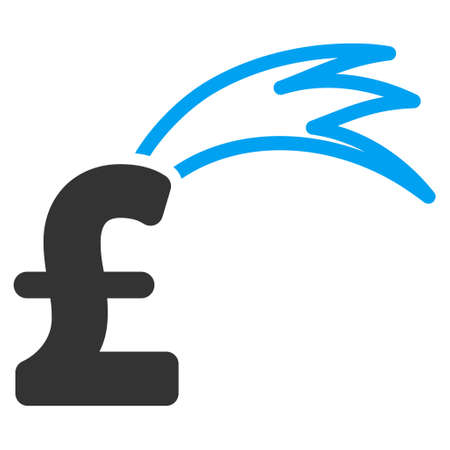 fortune: Fortune Falling Pound vector icon. Fortune Falling Pound icon symbol. Fortune Falling Pound icon image. Fortune Falling Pound icon picture. Fortune Falling Pound pictogram.