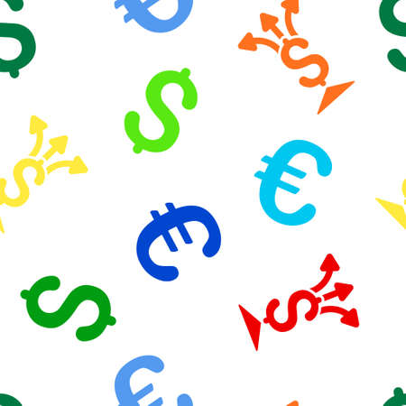 Split Payment Vector Repeatable Pattern With Dollar And Euro