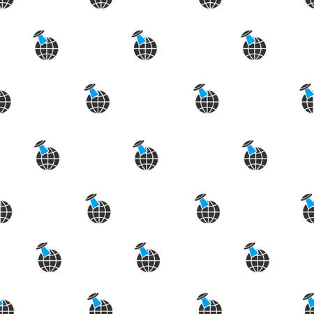 Alien Visit Earth Vector Seamless Repeatable Pattern Style Is