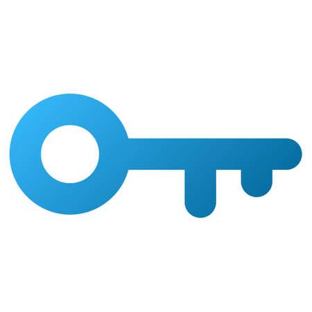 passkey: Key raster toolbar icon. Style is gradient icon symbol on a white background. Stock Photo