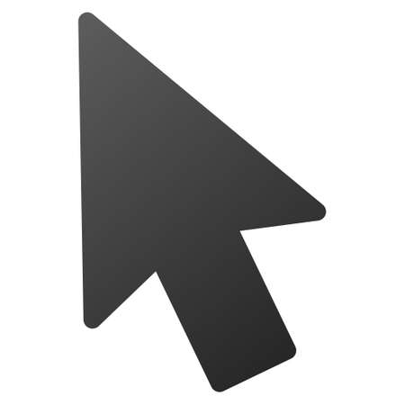 mouse pointer: Mouse Pointer raster toolbar icon. Style is gradient icon symbol on a white background. Stock Photo