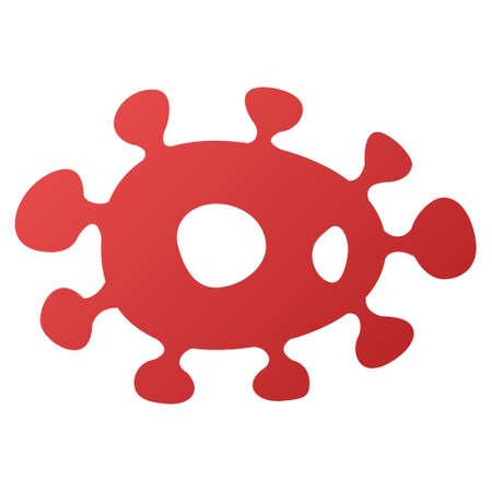ameba: Virus raster toolbar icon. Style is gradient icon symbol on a white background.