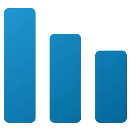 decrease: Bar Chart Decrease vector toolbar icon. Style is gradient icon symbol on a white background.
