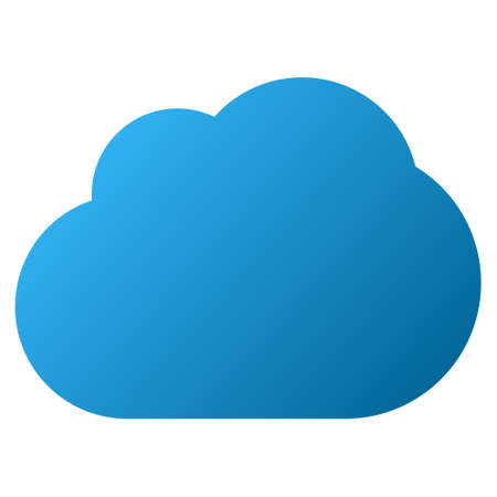 saas: Cloud vector toolbar icon. Style is gradient icon symbol on a white background.