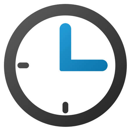 clockface: Clock vector toolbar icon. Style is gradient icon symbol on a white background. Illustration