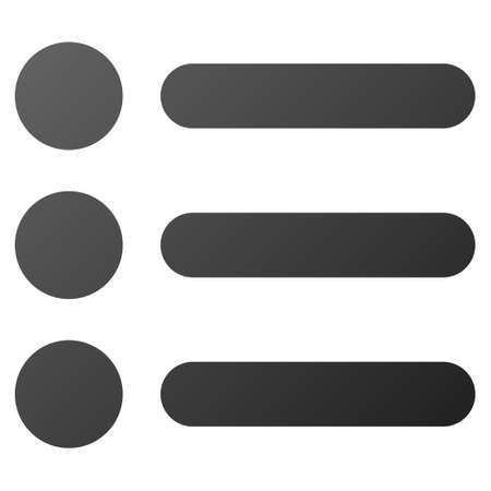 toolbar: Items vector toolbar icon. Style is gradient icon symbol on a white background.