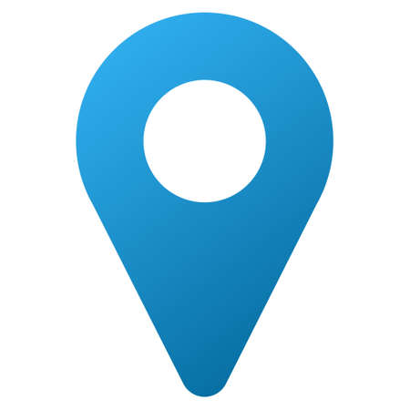 map marker: Map Marker vector toolbar icon. Style is gradient icon symbol on a white background.