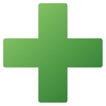 add: Medical Cross vector toolbar icon. Style is gradient icon symbol on a white background.