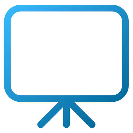 presentation screen: Presentation Screen vector toolbar icon. Style is gradient icon symbol on a white background.