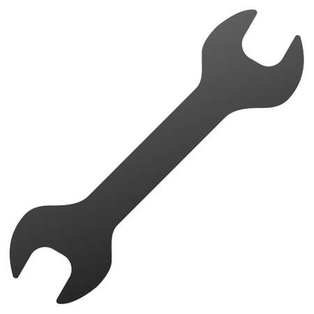 config: Wrench vector toolbar icon. Style is gradient icon symbol on a white background. Illustration