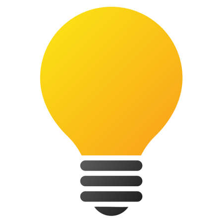 electric bulb: Electric Bulb vector toolbar icon for software design. Style is gradient icon symbol on a white background.