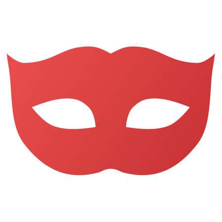 mascara de teatro: Máscara de Privacidad icono de la barra de herramientas del vector para el diseño de software. El estilo es el símbolo gradiente icono sobre un fondo blanco.
