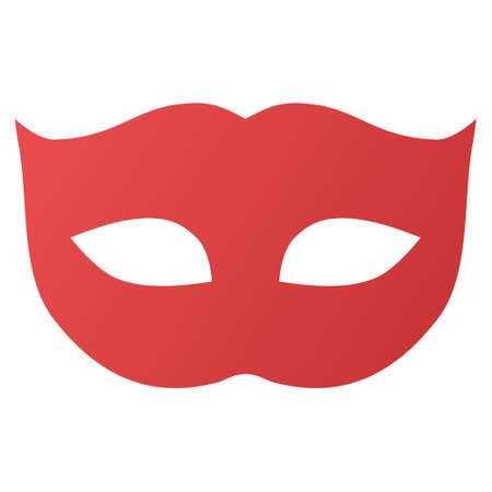 comedy mask: Privacy Mask vector toolbar icon for software design. Style is gradient icon symbol on a white background.