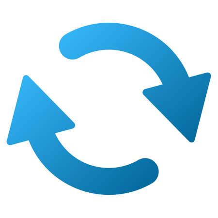 Vernieuw vector werkbalkpictogram voor softwareontwerp. Stijl is gradiënt pictogram symbool op een witte achtergrond. Vector Illustratie
