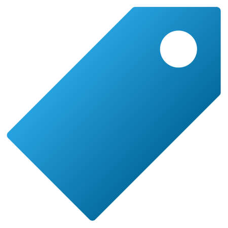 entity: Tag vector toolbar icon for software design. Style is gradient icon symbol on a white background.