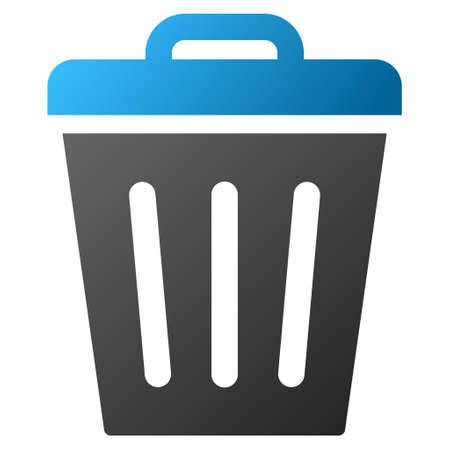 Trash Can Vector icône barre d'outils pour la conception de logiciels. Le style est dégradé symbole de l'icône sur un fond blanc.