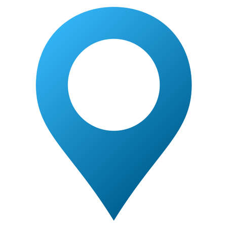 Map Marker raster toolbar icon for software design. Style is gradient icon symbol on a white background.