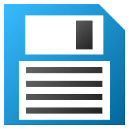 kilobyte: Floppy Disk vector toolbar icon for software design. Style is gradient icon symbol on a white background. Illustration