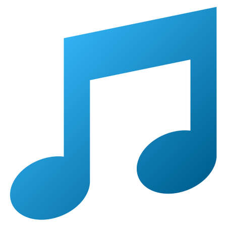 music notes vector: Music Notes vector toolbar icon for software design. Style is gradient icon symbol on a white background.