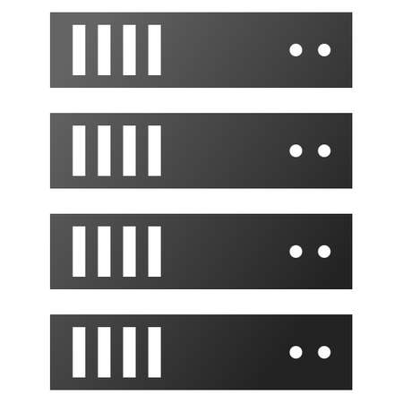 rack server: Server Rack vector toolbar icon for software design. Style is gradient icon symbol on a white background.