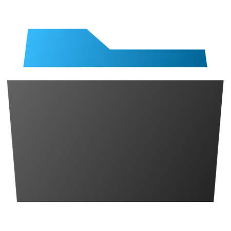 billfold: Folder raster toolbar icon for software design. Style is gradient icon symbol on a white background. Stock Photo