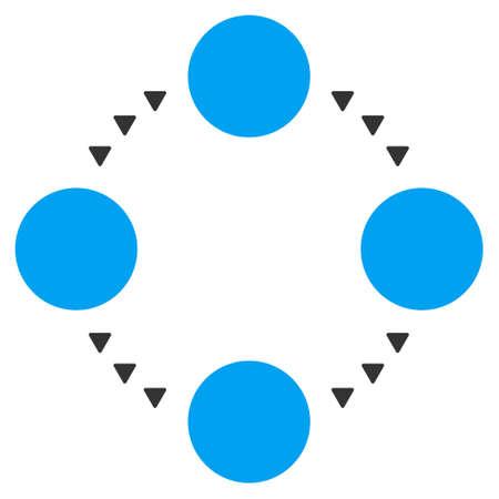 relations: Circular Relations vector icon. Circular Relations icon symbol. Circular Relations icon image. Circular Relations icon picture. Circular Relations pictogram.