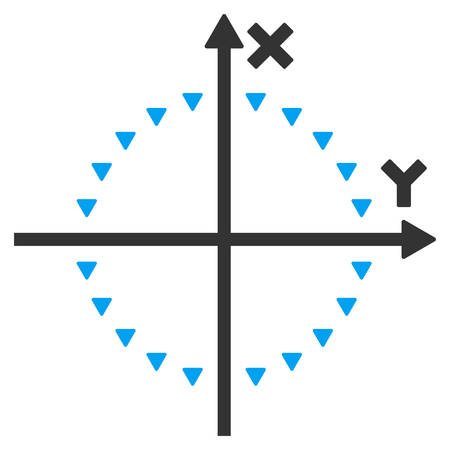 and plot: Dotted Circle Plot vector icon. Dotted Circle Plot icon symbol. Dotted Circle Plot icon image. Dotted Circle Plot icon picture. Dotted Circle Plot pictogram. Illustration