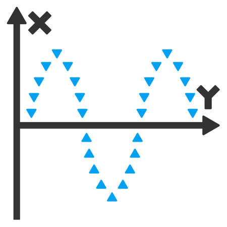 alternating current: Dotted Sinusoid Plot vector icon. Dotted Sinusoid Plot icon symbol. Dotted Sinusoid Plot icon image. Dotted Sinusoid Plot icon picture. Dotted Sinusoid Plot pictogram.
