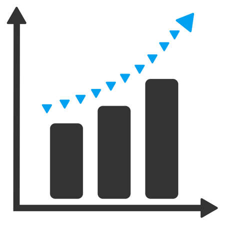 trend: Dotted Positive Trend vector icon. Dotted Positive Trend icon symbol. Dotted Positive Trend icon image. Dotted Positive Trend icon picture. Dotted Positive Trend pictogram. Illustration