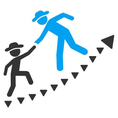 co operation: Gentlemen Education Growth vector icon. Gentlemen Education Growth icon symbol. Gentlemen Education Growth icon image. Gentlemen Education Growth icon picture. Gentlemen Education Growth pictogram.