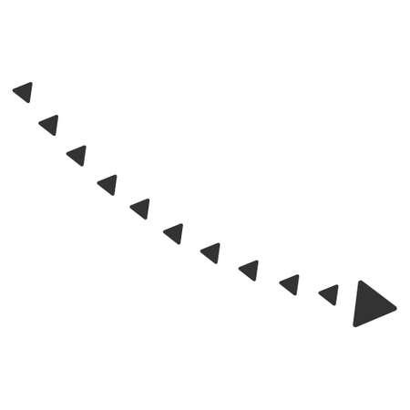 Dotted Decline Trend vector icon. Dotted Decline Trend icon symbol. Dotted Decline Trend icon image. Dotted Decline Trend icon picture. Dotted Decline Trend pictogram. Ilustração Vetorial