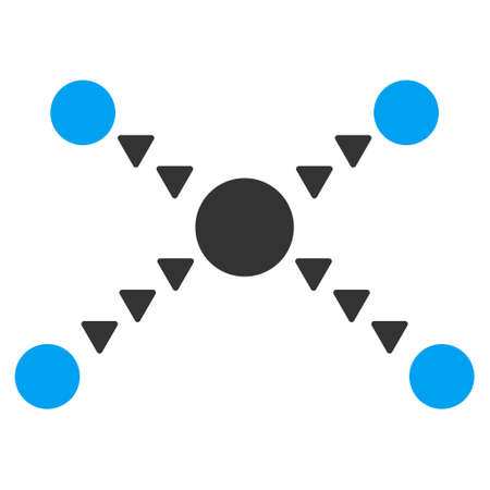 dotted: Dotted Links raster icon. Dotted Links icon symbol. Dotted Links icon image. Dotted Links icon picture. Dotted Links pictogram. Flat blue and gray dotted links icon.