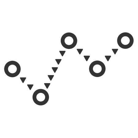 trend: Dotted Trend raster icon. Dotted Trend icon symbol. Dotted Trend icon image. Dotted Trend icon picture. Dotted Trend pictogram. Flat gray dotted trend icon. Isolated dotted trend icon graphic.