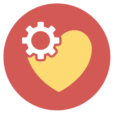 heart surgery: Heart Surgery vector icon. Image style is a flat light icon symbol on a round red button. Heart Surgery symbol.