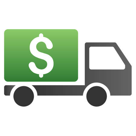collector: Money Collector Car vector toolbar icon for software design. Style is a gradient icon symbol on a white background.