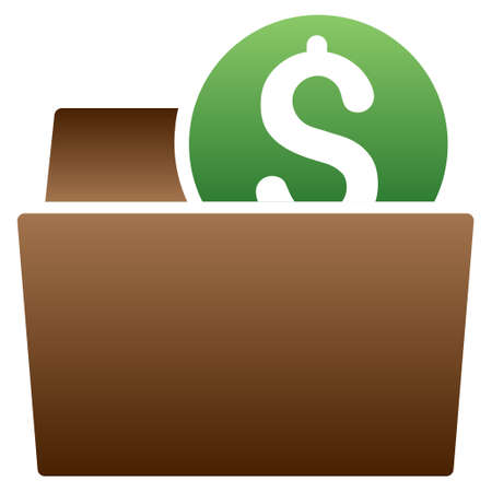billfold: Wallet vector toolbar icon for software design. Style is a gradient icon symbol on a white background. Illustration