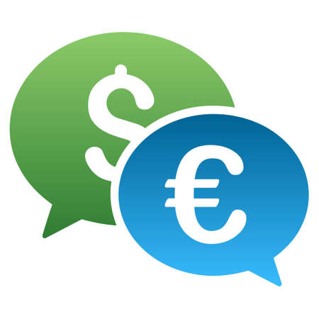 Euro Dollar Transaction Chat Glyph Toolbar Icon For Software Stock